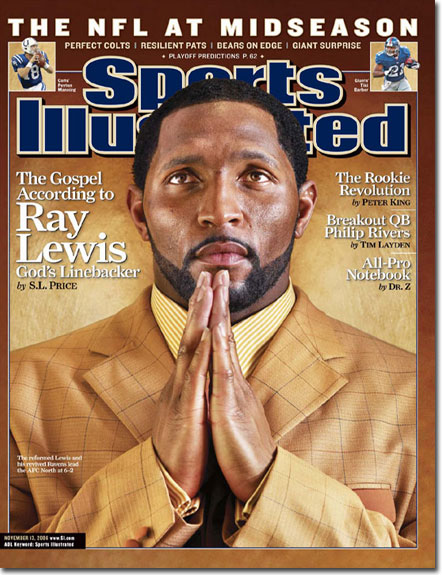 Ray Lewis Gods Linebacker