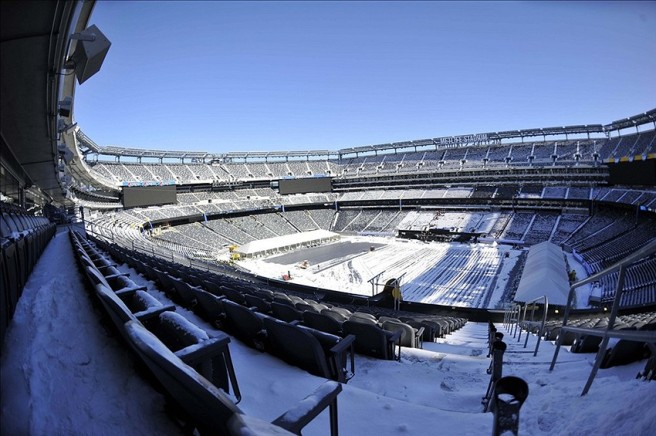MetLife Stadium In the Snow