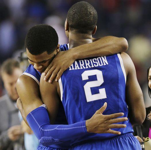 Harrison Twins Hug