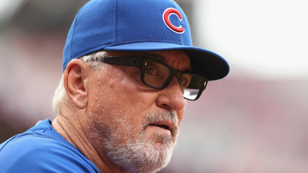 CINCINNATI, OH - JULY 20: Joe Maddon the manager of the Chicago Cubs watches the action against the Cincinnati Reds at Great American Ball Park on July 20, 2015 in Cincinnati, Ohio. (Photo by Andy Lyons/Getty Images)