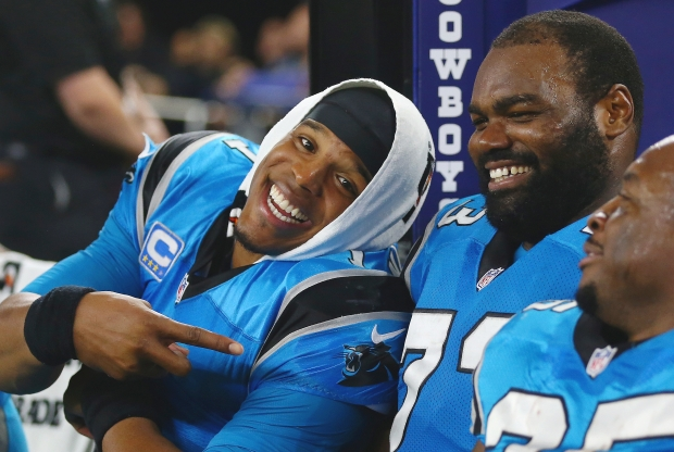 Cam and Michael Oher