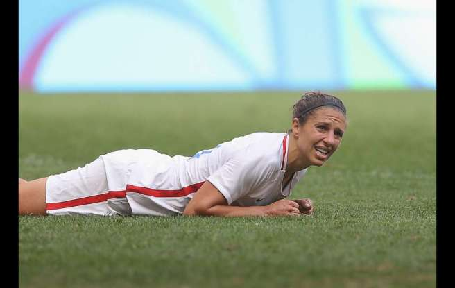 Olympics Carli Lloyd after loss to Sweeden
