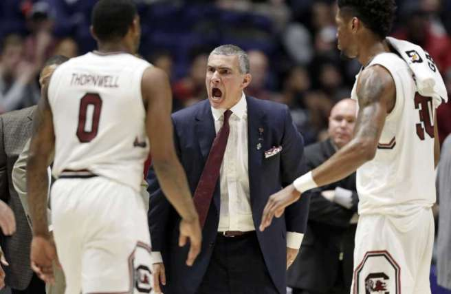 South Carolina Coach and Players