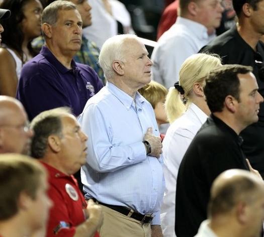 John McCain Hand Over Heart
