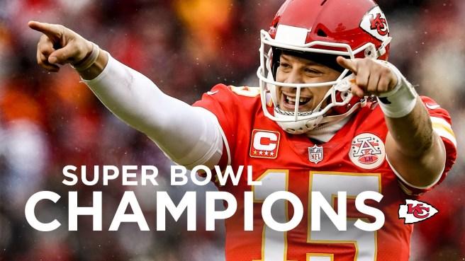 Mahomes Super Bowl Champins